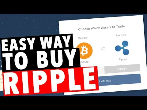 Easy Way To Buy RIPPLE! $XRP!