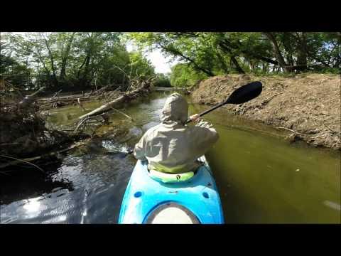 Kayak Fishing Big Creek to the Wabash River 2014 II
