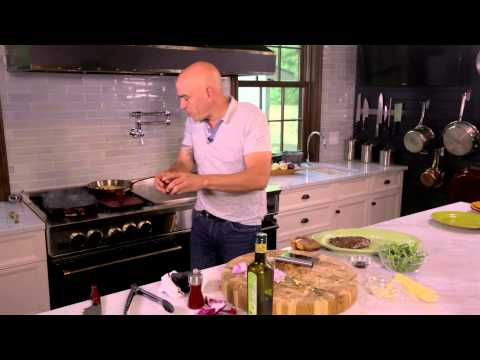 Grilled Flank Steak & Corn Bacon Salad from Chef Michael Symon and BlueStar
