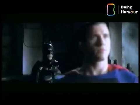 Superman and Batman teams up with Narendra Modi's Safai Abhiyan (Being Humour Presentation)