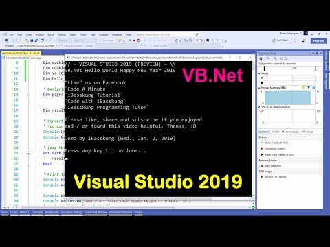 Visual Studio 2019 (VB NET) : How to Create Your First