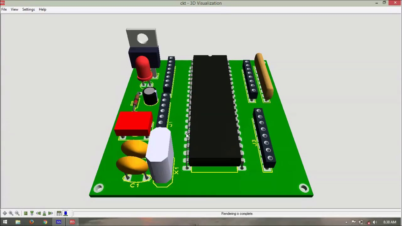 8051 based mini testing board schematic and pcb layout designing [ 1280 x 720 Pixel ]