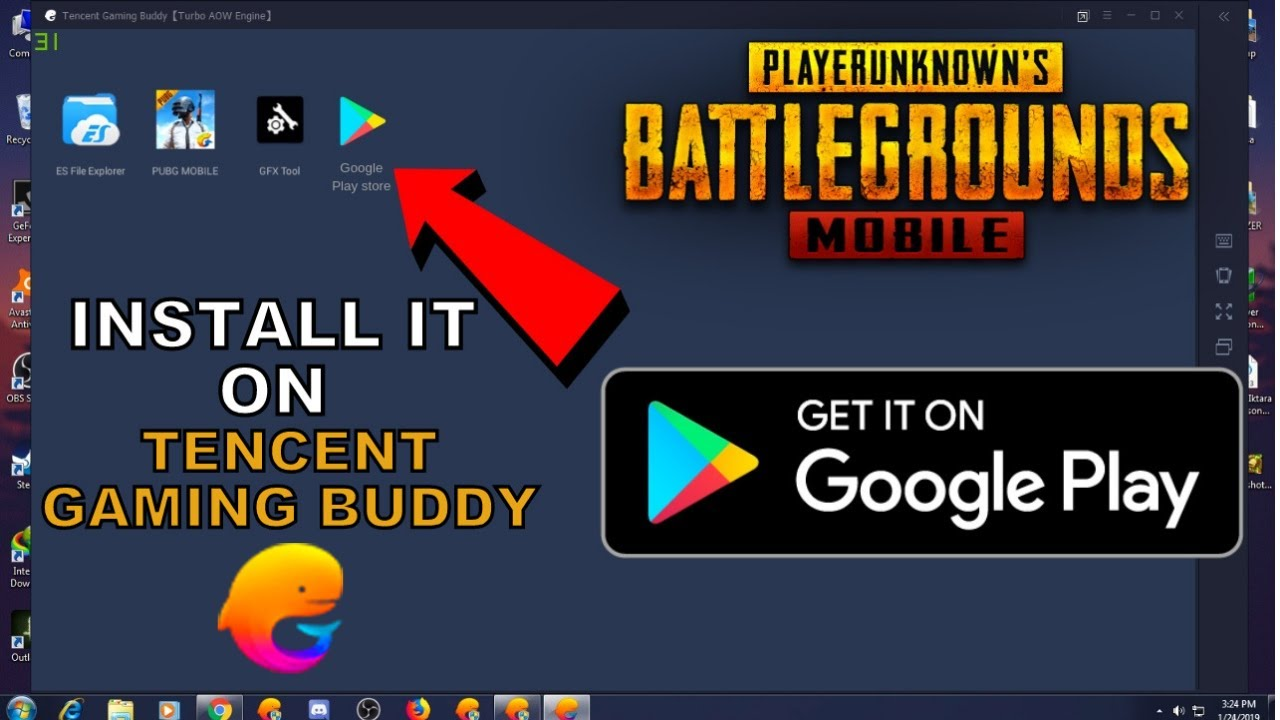 How To Install Play store in Tencent Gaming Buddy | Install Google Play  store In Tencent Emulator