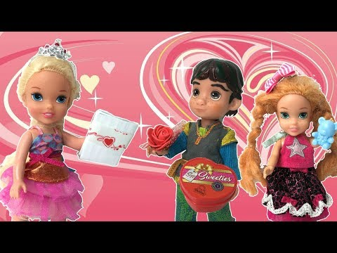Elsa and Anna Toddlers Valentine's Day Scavenger Hunt! Ep. 415 - Toys In Action  