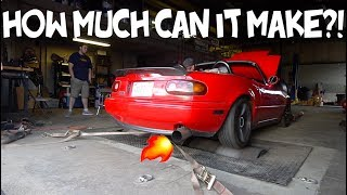MAXING OUT STOCK MIATA + CX TURBO KIT!!
