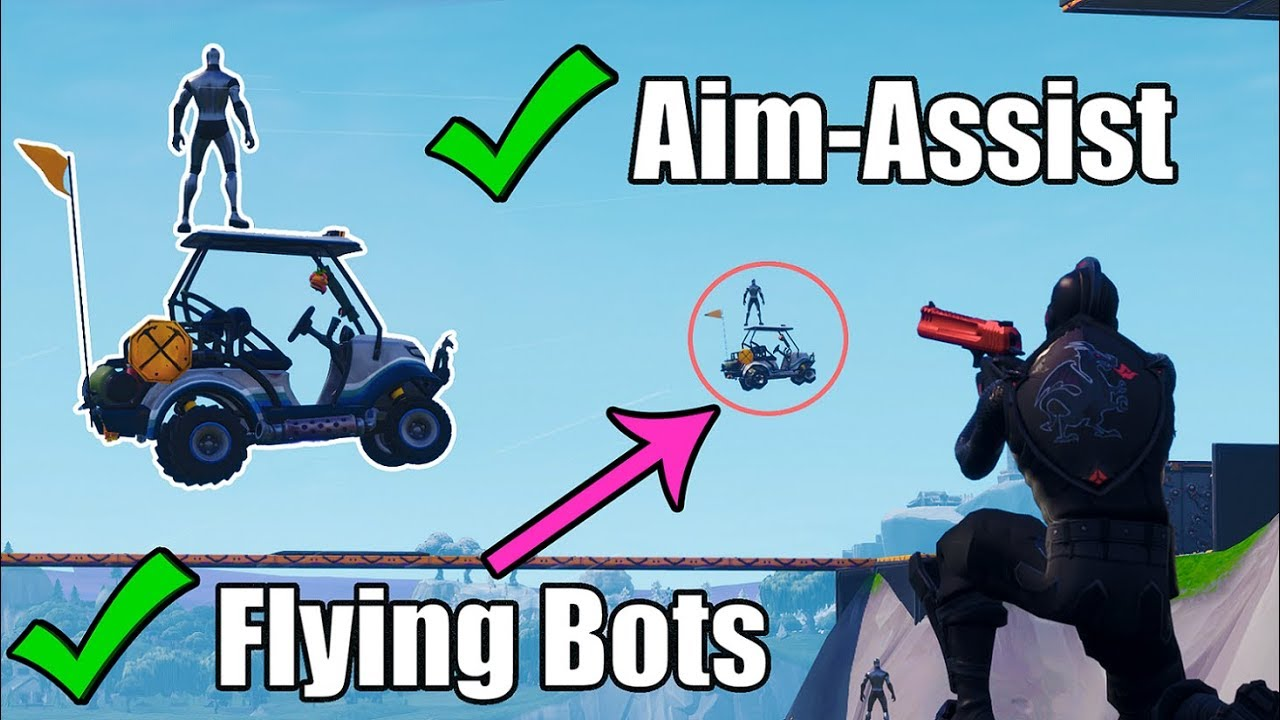 the best aim map for console and mobile flying bots fortnite creative mode - bots in fortnite mobile