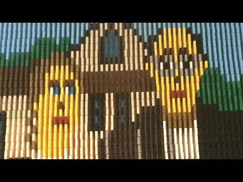 American Gothic in 4,000 Dominoes!