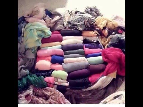 comment ranger ses foulard astuce youtube. Black Bedroom Furniture Sets. Home Design Ideas