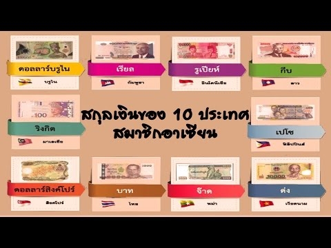 L2S สกุลเงินของ 10 ประเทศสมาชิกอาเซียนมีอะไรบ้าง