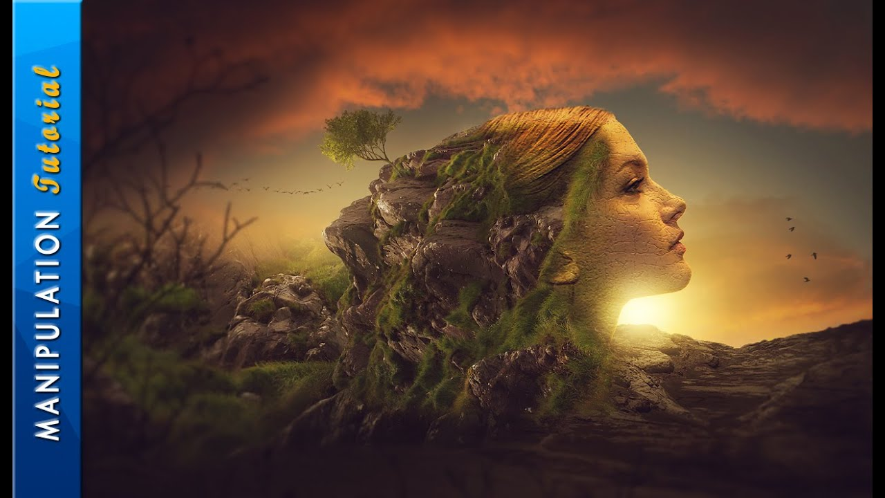 Photoshop Manipulation Tutorial Surrealism Photo Effect - YouTube