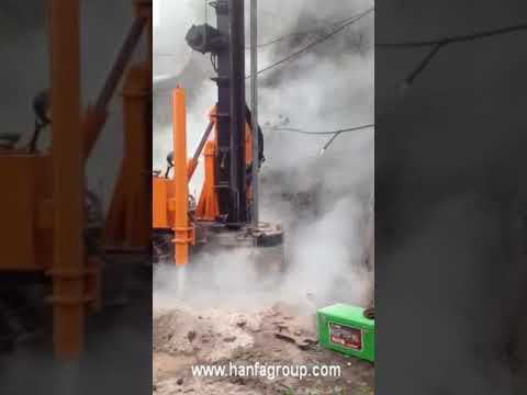 HFG-200 water well drilling rig in construction site