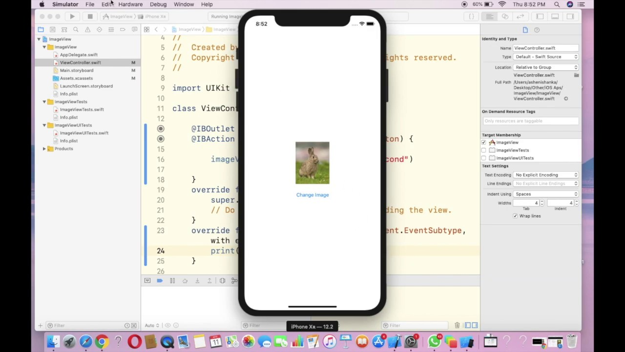 How to detect Shake Gesture in iOS - Xcode Swift Tutorial