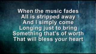Heart of Worship worship video