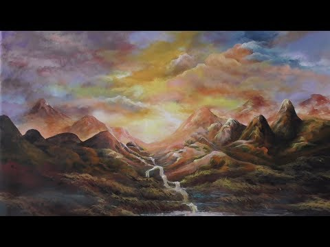 Mingling | acrliyc landscape painting  | painting | paint with joy 21