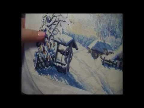 Риолис русская зима вышивка