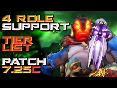 4 Role Support Hero Tier List   Patch 7.25c Dota 2
