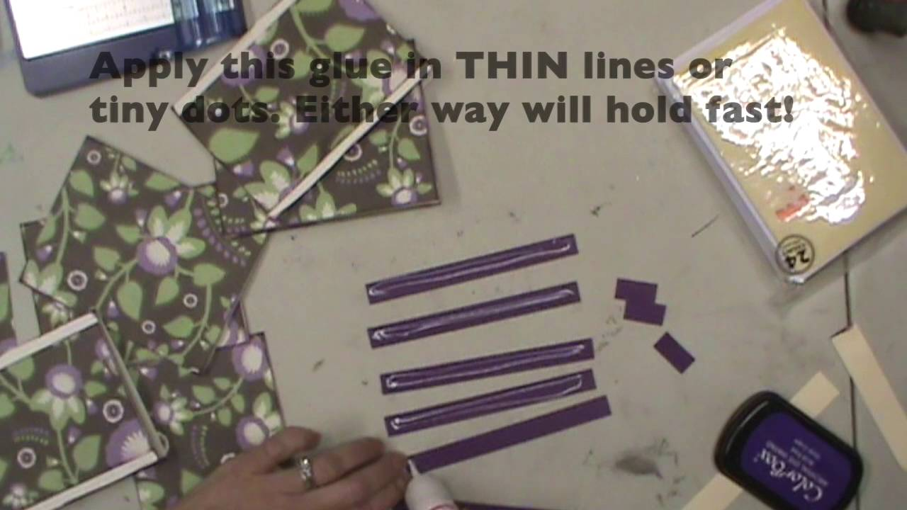 cardmaking with the best glue ever youtube