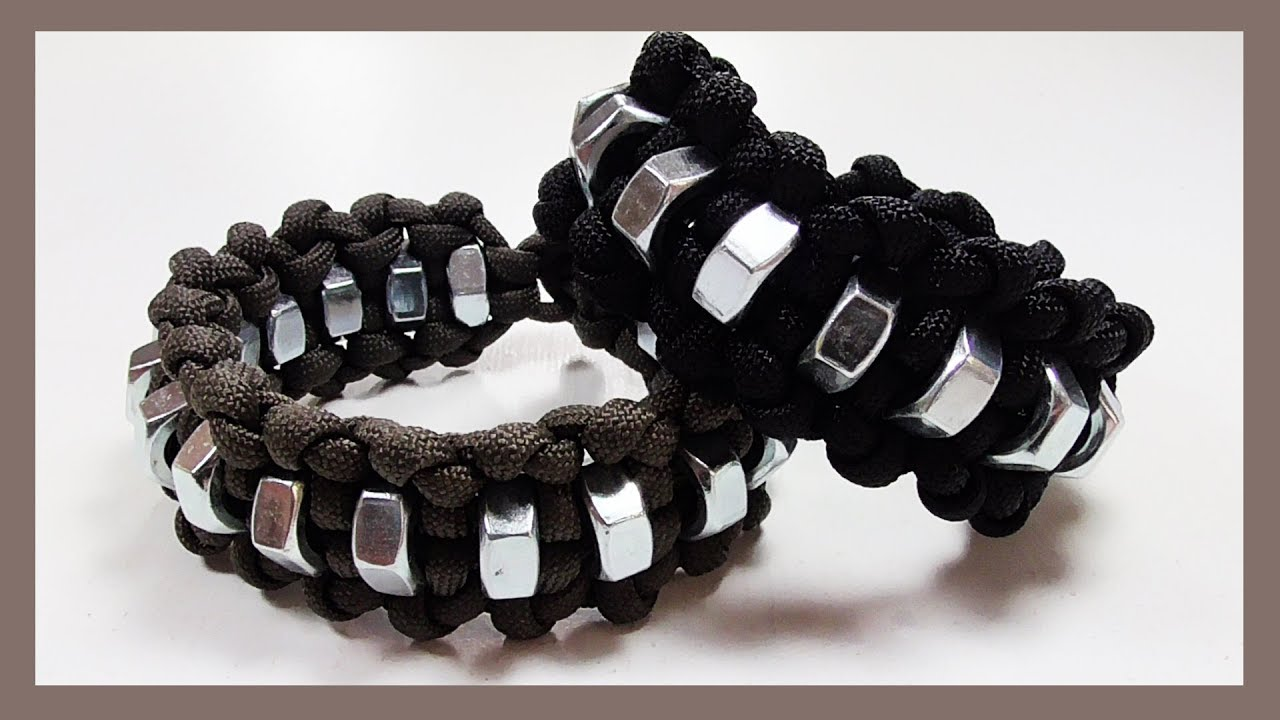 Paracord Bracelet Viral Hex Nut Design Without Buckle
