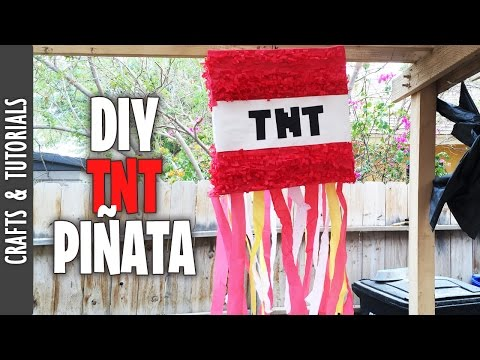 HOW TO MAKE A MINECRAFT (TNT) PIÑATA- The290ss