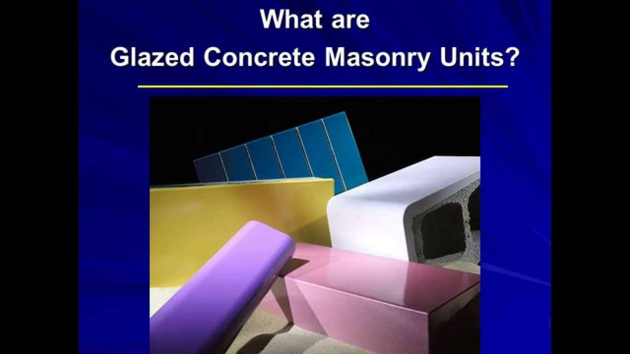 Glazed Cinder Blocks : Astra glaze block by permacon youtube