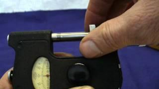 Установка на ноль,рычажного микрометра.