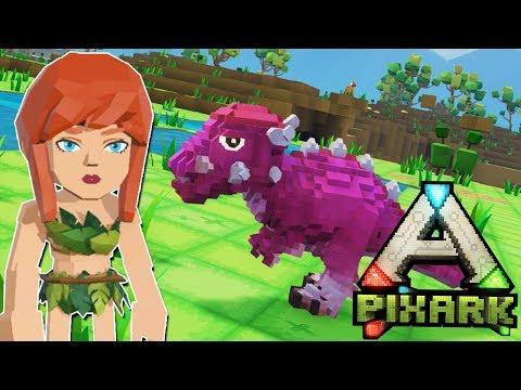 PixARK - Minecraft + ARK: Survival Evolved?! - 1. rész! w/IceBlueBird