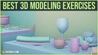 Blender modeling: try these 3 exercises to improve fast (2019)