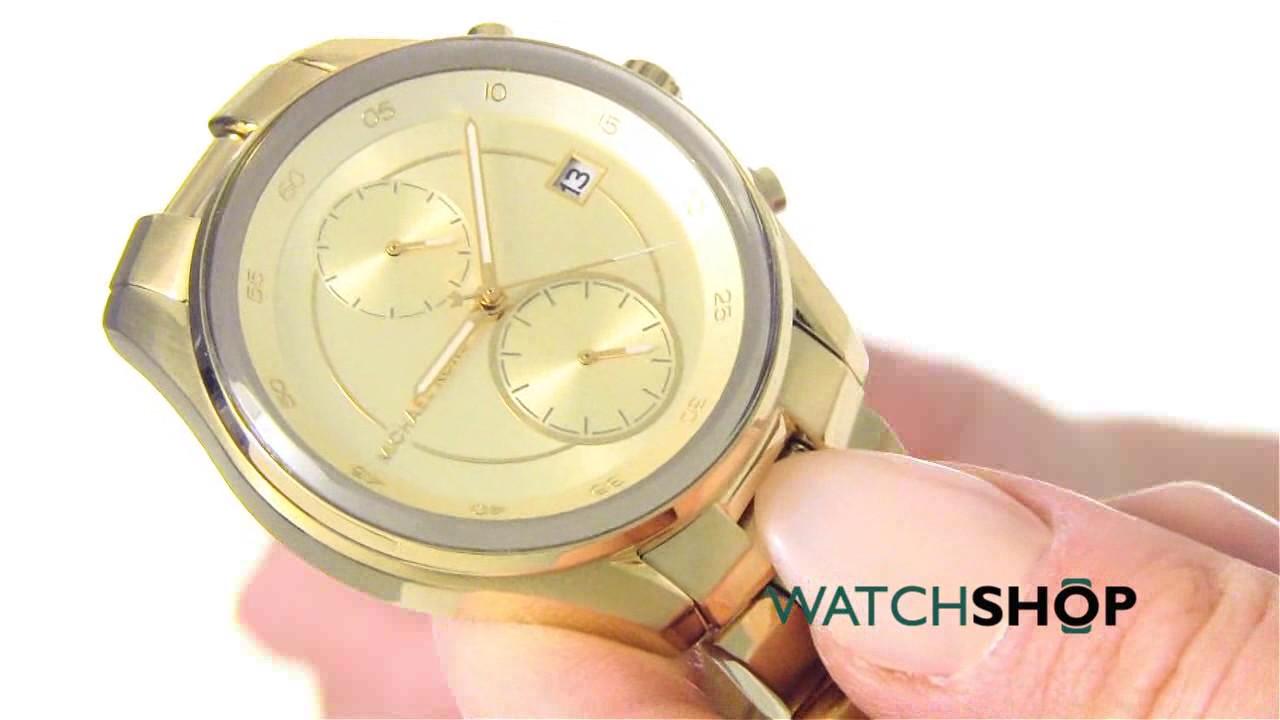 8529fa6a4a12 Michael Kors Ladies  Briar Chronograph Watch (MK6464) - YouTube