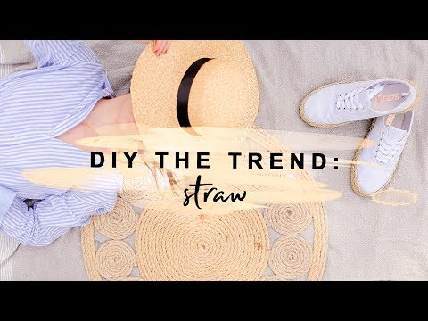 DIYING THE STRAW & JUTE TREND