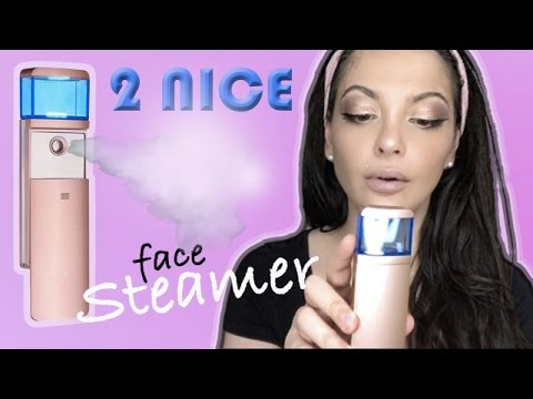 2 NICE mini portable FACE STEAMER, unboxing, REVIEW