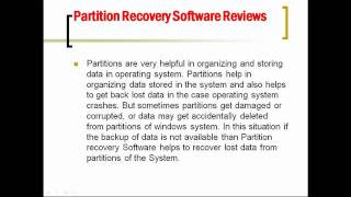 Partition Recovery Software Reviews