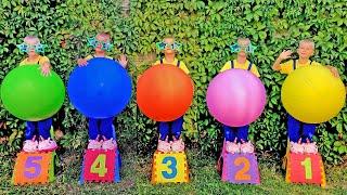 Cinco pequeño mono saltando en la cama 🐒 | Canciones infantiles y canciones para bebés