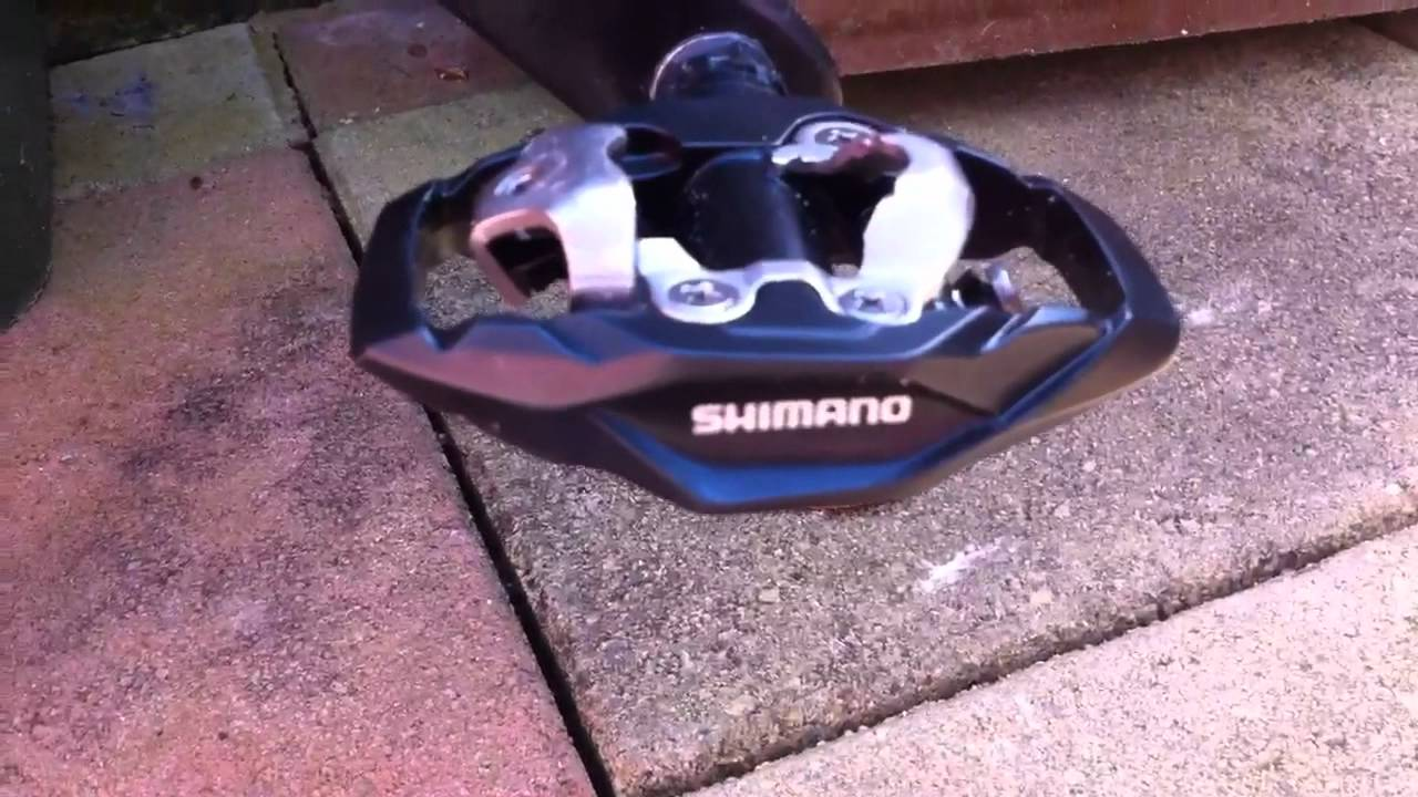 3bc07df10 Shimano m530 SPD pedals - YouTube