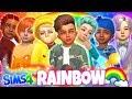 🌈RAINBOW BABY BOYS!!!😍 - Sims 4 CAS Challenge!