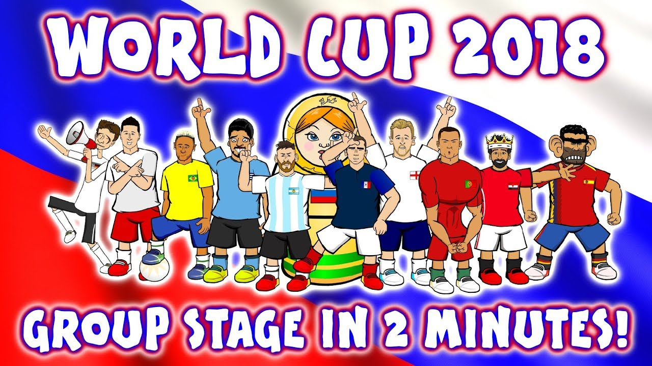 🏆WORLD CUP GROUP STAGE in 2 MINUTES🏆 (Every Game! Russia 2018 Highlights Montage Parody Goals)