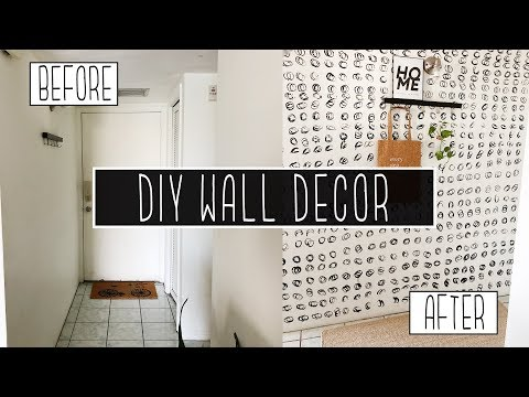 MAKEOVER OF MY ENTRYWAY - MY WALL CHANGED A LOT! - DIY wall decor easy and cheap
