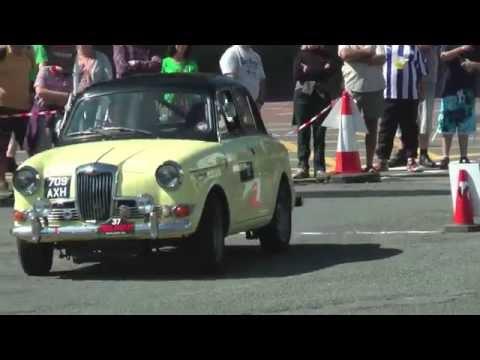 Riley 1.5 1960 Short Auto Test at Caernarfon Harbour car park.