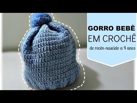 GORRO BEBÊ MEDIDAS RECÉN NASCIDO A 4 ANOS/ DIANE GONÇALVES