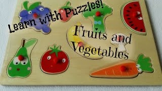 Learn Words From Puzzles: Fruits And Vegetables