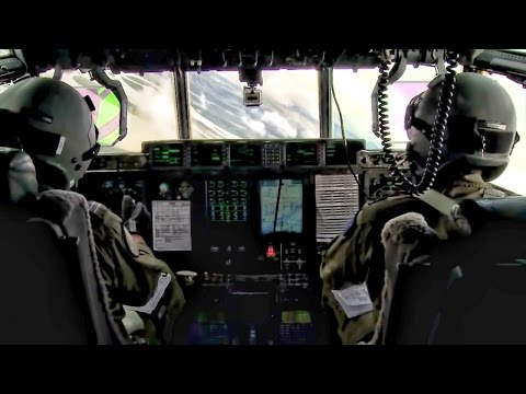 RAAF C-130J Super Hercules Cockpit & Cargo Bay View