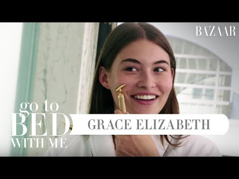 Grace Elizabeths Nighttime Skincare Routine  Go To Bed With Me  Harpers BAZAAR