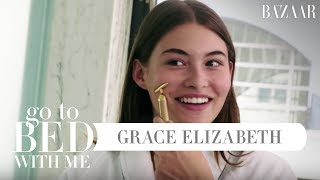 Grace Elizabeth's Nighttime Skincare Routine | Go To Bed With Me | Harper's BAZAAR