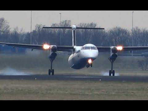 Flybe Dash-8 Q400 brilliant landing