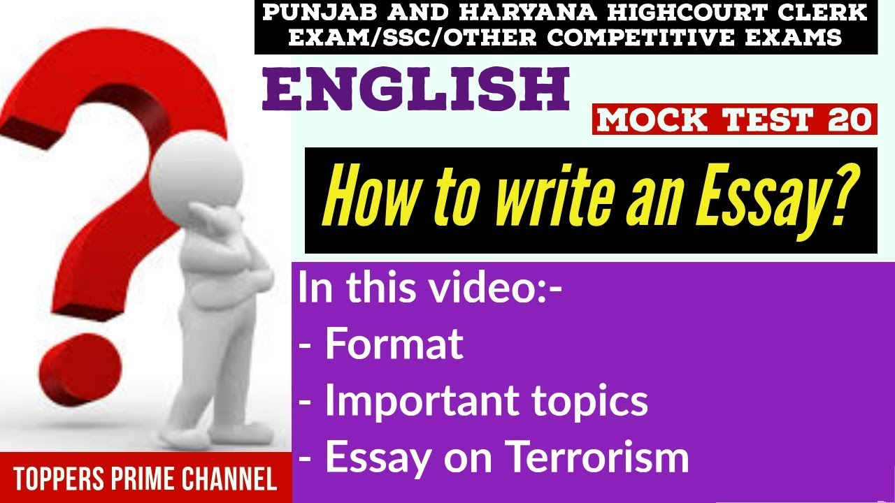 Synthesis Essay Ideas  General Essay Topics In English also English Narrative Essay Topics Punjab And Haryana Highcourt Clerk Essay Topics  English Essay Writing  Ssc  Terrorism Example Essay Thesis Statement