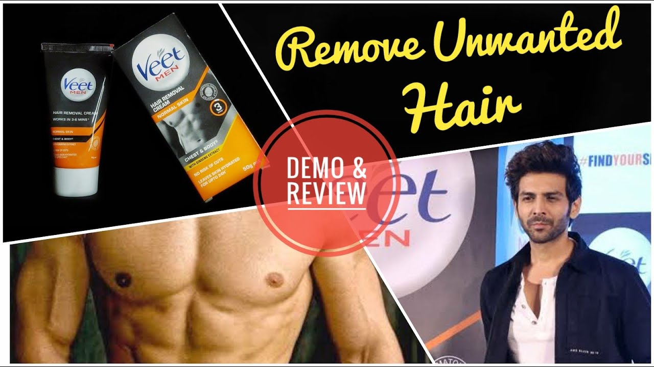 Veet Men Hair Removal Cream Demo N Review Veet Men Vs Trimmer