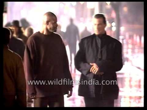 Seagal In Action In Making Of The The Glimmer Man Behind The Scenes