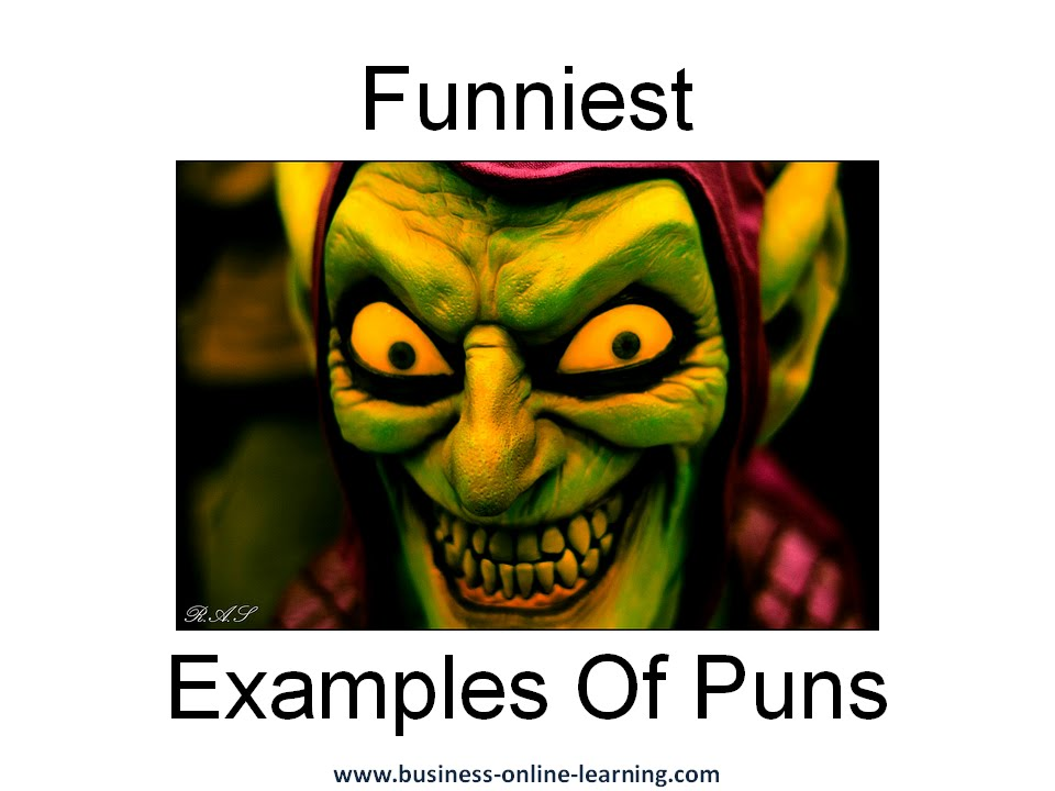 funny examples of puns youtube