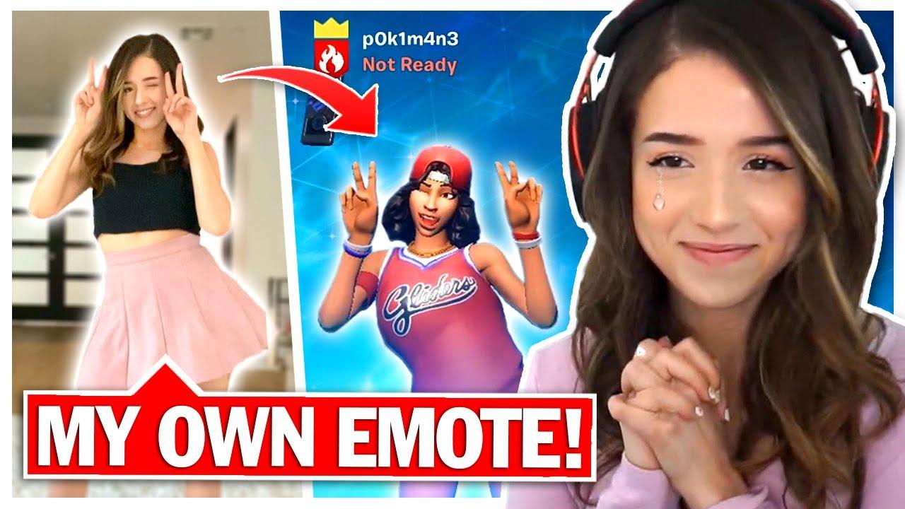 FORTNITE MADE ME AN EMOTE - New Pokimane Dance! thumbnail