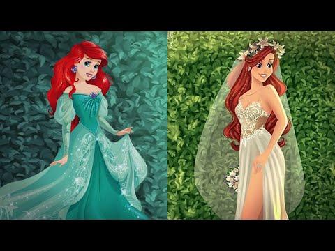 Как выглядели бы героини Дисней в современных свадебных платьях
