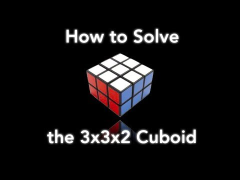 How to Solve the 3x3x2 Cuboid!